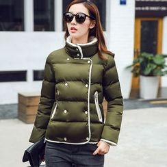 AiSun - Fleece Lined Double Breasted Padded Jacket