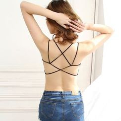 DORRIE - Cross Back Bra Top