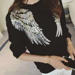 MayFair - Sequined Wings Pullover