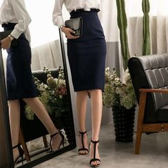 Eleganza - Paperbag Waist Pencil Skirt