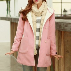 Fashion Street - Wool Hooded Coat