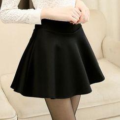Jenny's Couture - 纯色荷叶A字短裙