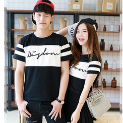 Lovebirds - Short-Sleeve Printed Couple T-Shirt