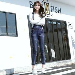 Hola - Slim-Fit Suspender Jeans