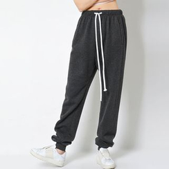 FASHION DIVA - Brushed-Fleece Lined Sweatpants