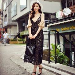 Dabuwawa - Lace Sleeveless Dress