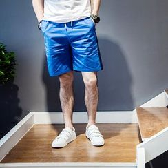 YIDESIMPLE - Paneled Drawstring Shorts