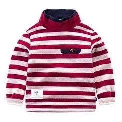 DEARIE - 儿童条纹小高领长袖T恤