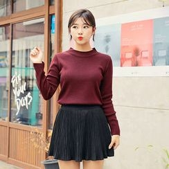 HOTPING - Round-Neck Knit Top