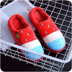 VANDO - Embroidery Fleece Slippers