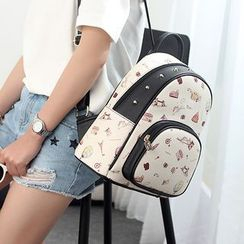 Princess Carousel - Studded Print Backpack
