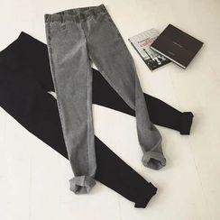 Jolly Club - Fleece-Lined Slim-Fit Jeans