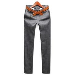 Seoul Homme - Graph-Check Dress Pants