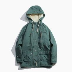Dubel - Fleece-Lined Hooded Parka