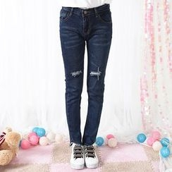 Fairyland - Ripped Slim-Fit Jeans