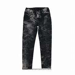 captain papa Acid-Washed Jeans
