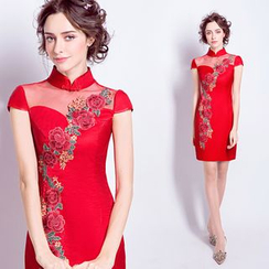 Angel Bridal - Embroidered Qipao