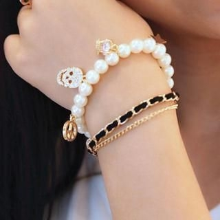 Cuteberry - Rhinestone Beaded Bracelet