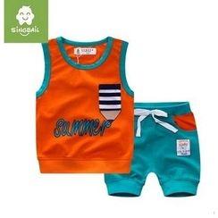 Endymion - Kids Set: Printed Tank Top + Shorts