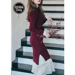 Chlo.D.Manon - Dip-Back Knit Dress with Sash