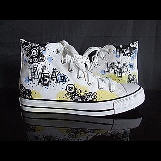HVBAO - 'Graffiti'  High-Top Canvas Sneakers