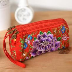 59 Seconds - Embroidered Wristlet