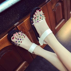 Ginko - Platform Wedge Paneled Sandals
