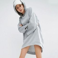 Lovebirds - Hooded Fleece-Lined Pullover Dress