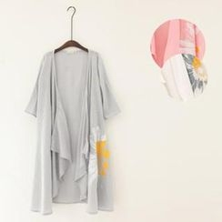 11.STREET - Daisy Irregular Short-Sleeve Shawl