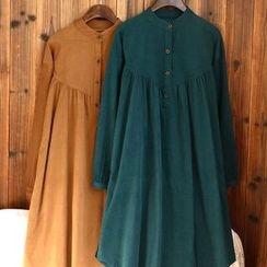 tete - 長袖純色連衣裙