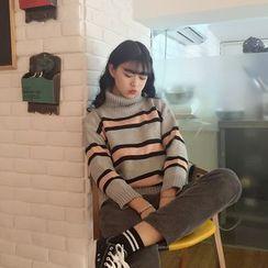 Bodacious! - Turtleneck Striped Sweater