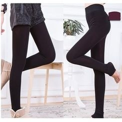 Hyoty - Dotted Fleece-Lined Leggings