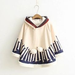 Musume - Printed Hooded Cape