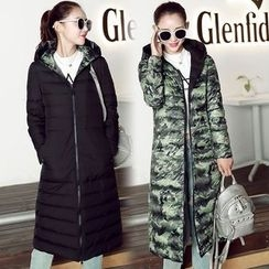 Romantica - Hooded Padded Long Coat