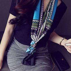 Amandier - 印花人造丝围巾