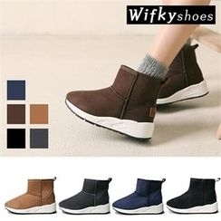 Wifky - Platform Faux-Suede Ankle Boots