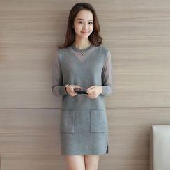 Autunno - Sheer-Panel Knit Tunic