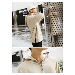 HOTBOOM - Hooded Half-Zip Pullover