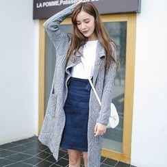 ZIZI - Lapel Long Cardigan