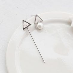 Love Generation - Triangle Non-Matching Earrings