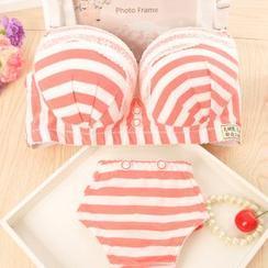 Heart2Heart - Set: Stripe Bra + Panties