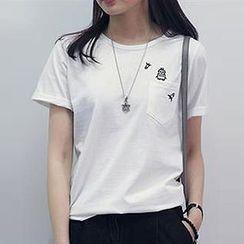 Champi - 刺繡短袖T裇