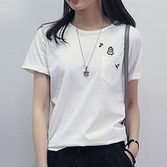 Champi - Embroidered Short-Sleeve T-Shirt