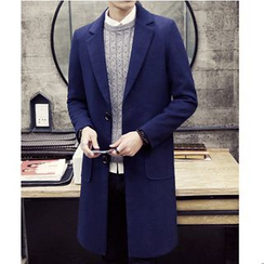 Bay Go Mall - Plain Woolen Coat