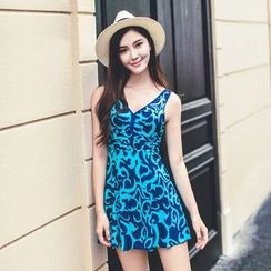 Morning Dew - Patterned Swimdress