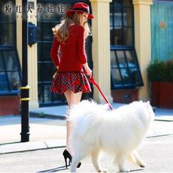 Dabuwawa - Wool Blend Plaid Hem Knit Dress