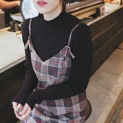 mimi&didi - Mock-Neck Rib-Knit Sweater