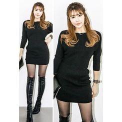INSTYLEFIT - Dolman-Sleeve Knit Mini Dress