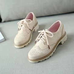 Pastel Pairs - Lace-Up Wingtip Shoes