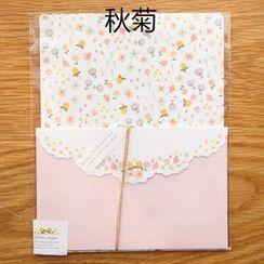 CatShow - 套裝: 碎花信封 + 信紙